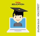 online education | Shutterstock .eps vector #436139857