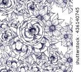 abstract elegance seamless... | Shutterstock .eps vector #436140745