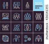 conference icons  management... | Shutterstock .eps vector #436141351