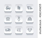 agriculture  farming line icons ... | Shutterstock .eps vector #436143655