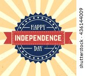 american independence day  4th... | Shutterstock .eps vector #436144009