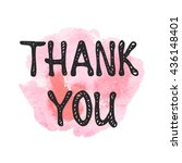 thank you hand drawn lettering... | Shutterstock .eps vector #436148401