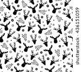 seamless pattern. silhouettes... | Shutterstock .eps vector #436151059