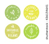 suitable for vegans.set of... | Shutterstock .eps vector #436154641