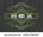 vintage typographic label...   Shutterstock .eps vector #436158604