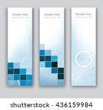 vector design vertical banner... | Shutterstock .eps vector #436159984