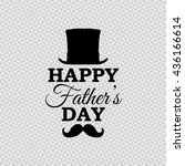 happy father's day vector... | Shutterstock .eps vector #436166614
