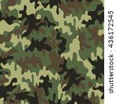green camouflage texture... | Shutterstock .eps vector #436172545