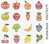 fruit and vegetables...   Shutterstock .eps vector #436176175