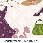 vector background for clothing... | Shutterstock .eps vector #436182421