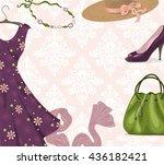 vector background for clothing... | Shutterstock .eps vector #436182421