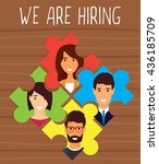 human resources  recruiting... | Shutterstock .eps vector #436185709