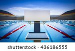 swimming pool diving platform... | Shutterstock . vector #436186555