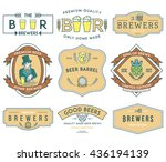 verctor beer badges for any use | Shutterstock .eps vector #436194139