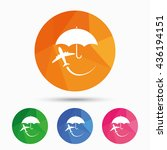 flight insurance sign icon.... | Shutterstock .eps vector #436194151