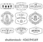 verctor beer badges for any use   Shutterstock .eps vector #436194169