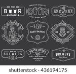 verctor beer badges for any use   Shutterstock .eps vector #436194175