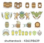 vector beer bundle for any use | Shutterstock .eps vector #436198639