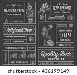 vector beer labels for any use | Shutterstock .eps vector #436199149