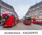 london nov 10 view of oxford... | Shutterstock . vector #436200955