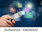 internet. | Shutterstock . vector #436202524