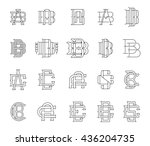 collection of vector... | Shutterstock .eps vector #436204735