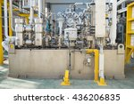 lube oil system skid of gas... | Shutterstock . vector #436206835