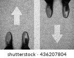 two businessmen standing on... | Shutterstock . vector #436207804