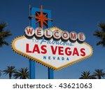 historic las vegas welcome sign ... | Shutterstock . vector #43621063
