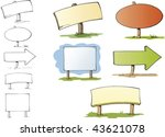 five signposts with different... | Shutterstock .eps vector #43621078