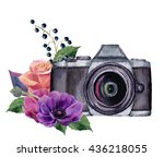 Watercolor Photo Label With...