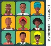 vector set of different african ... | Shutterstock .eps vector #436218745