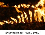 fire flames in a fireplace ... | Shutterstock . vector #43621957