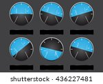 set of airplane altitude display | Shutterstock .eps vector #436227481