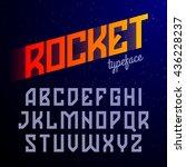 rocket typeface. constructivism ... | Shutterstock .eps vector #436228237