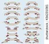 vintage ribbon | Shutterstock .eps vector #436231081
