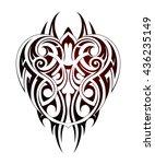 maori style tattoo shape as... | Shutterstock .eps vector #436235149