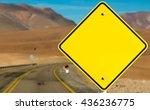 Empty Sign On Desert Road