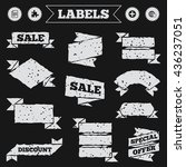 stickers  tags and banners with ... | Shutterstock .eps vector #436237051