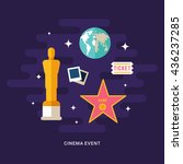 cinema event concept... | Shutterstock .eps vector #436237285