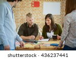 meeting in architects office | Shutterstock . vector #436237441