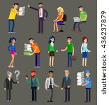 vector detailed characters... | Shutterstock .eps vector #436237879