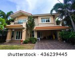 house with beautiful... | Shutterstock . vector #436239445