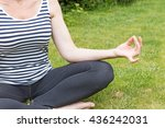 part of the body of a woman... | Shutterstock . vector #436242031