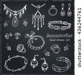 accessories sketch icon set.... | Shutterstock .eps vector #436244761