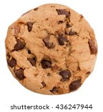 Chocolate chip cookie isolated...