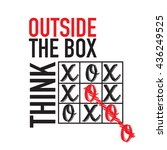 think outside the box icon | Shutterstock .eps vector #436249525