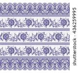 seamless lace pattern  flower... | Shutterstock .eps vector #436259995
