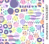 creative seamless pattern with... | Shutterstock .eps vector #436261807
