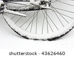 Wheel From A Bike Covered In...